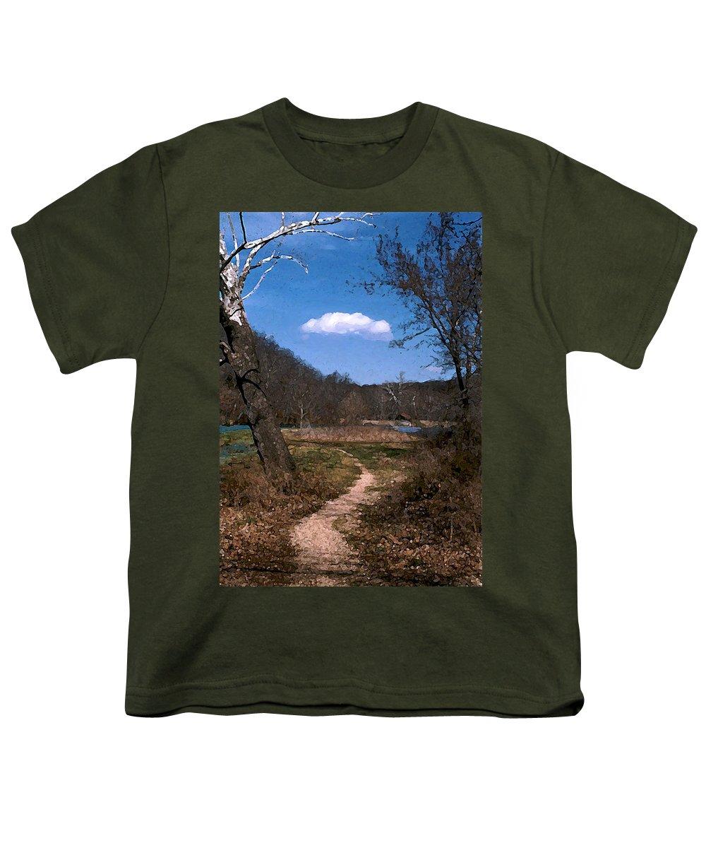 Landscape Youth T-Shirt featuring the photograph Cloud Destination by Steve Karol