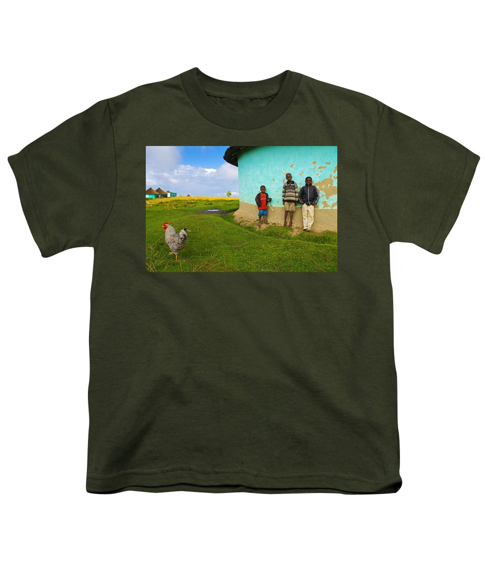 Skip Youth T-Shirt featuring the photograph Cocky by Skip Hunt