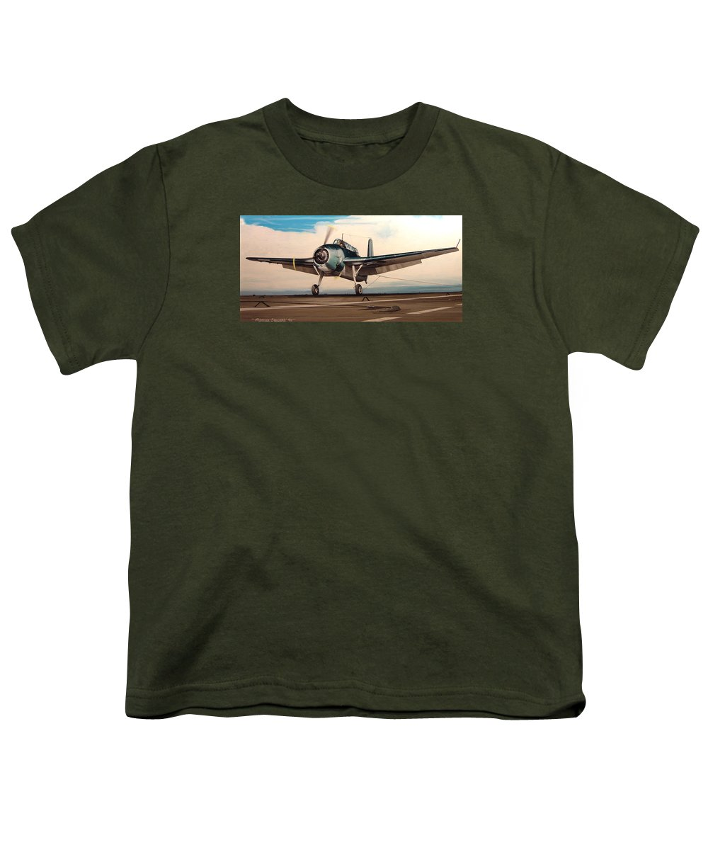 Painting Youth T-Shirt featuring the painting Coming Aboard by Marc Stewart