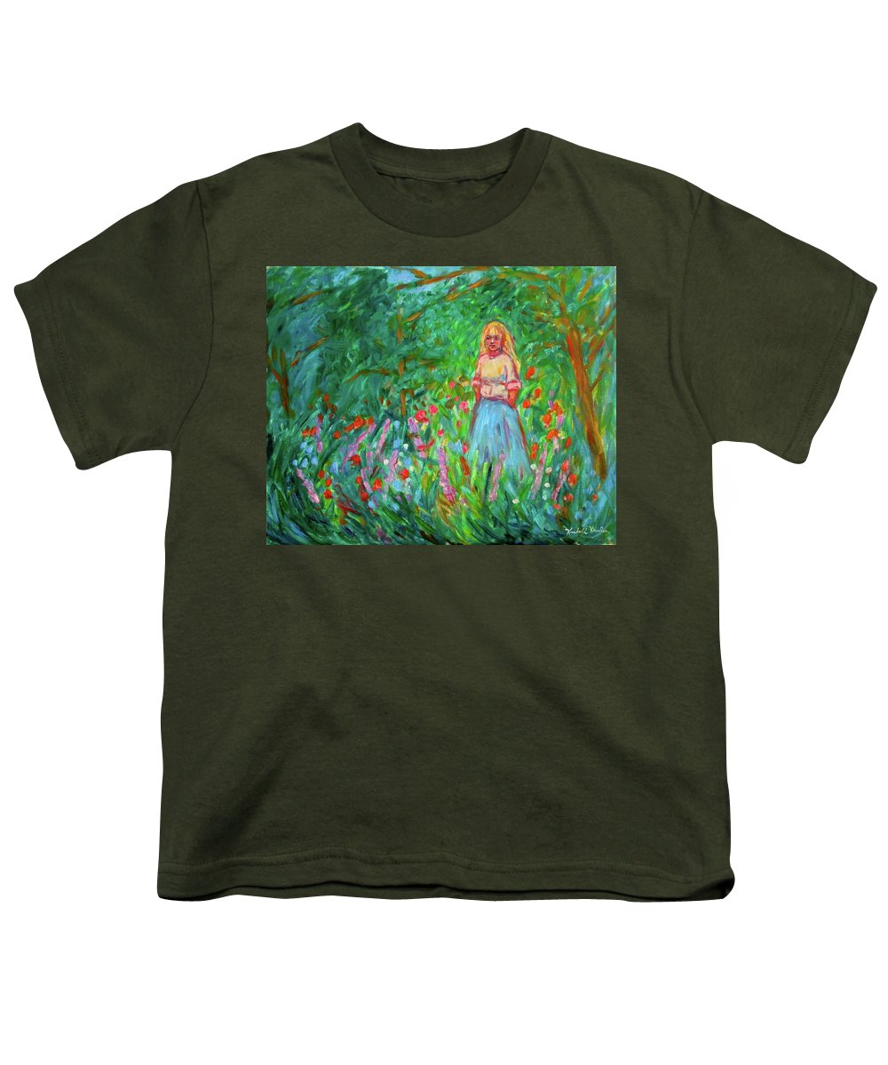 Landscape Youth T-Shirt featuring the painting Contemplation by Kendall Kessler