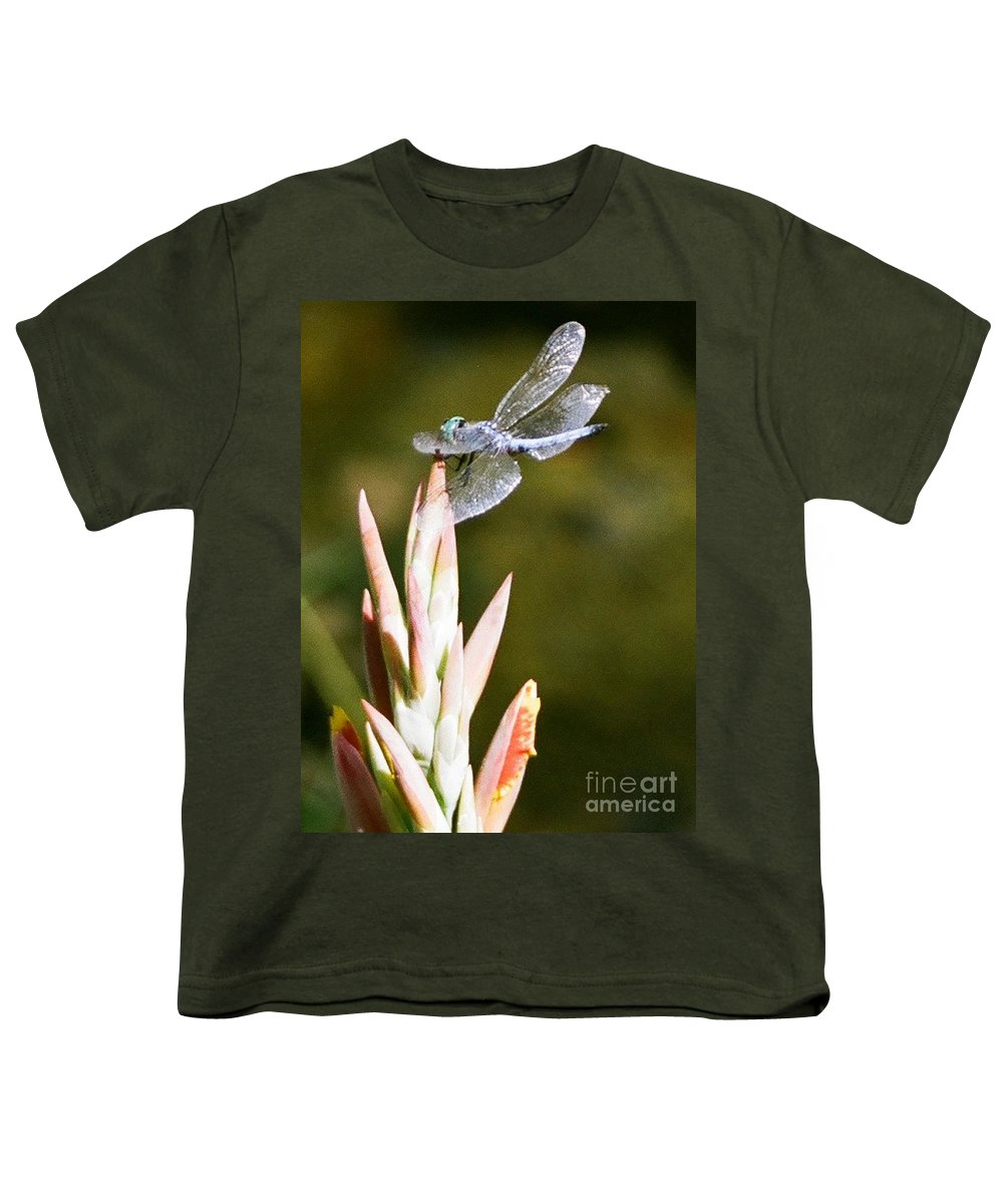 Dragonfly Youth T-Shirt featuring the photograph Damselfly by Dean Triolo