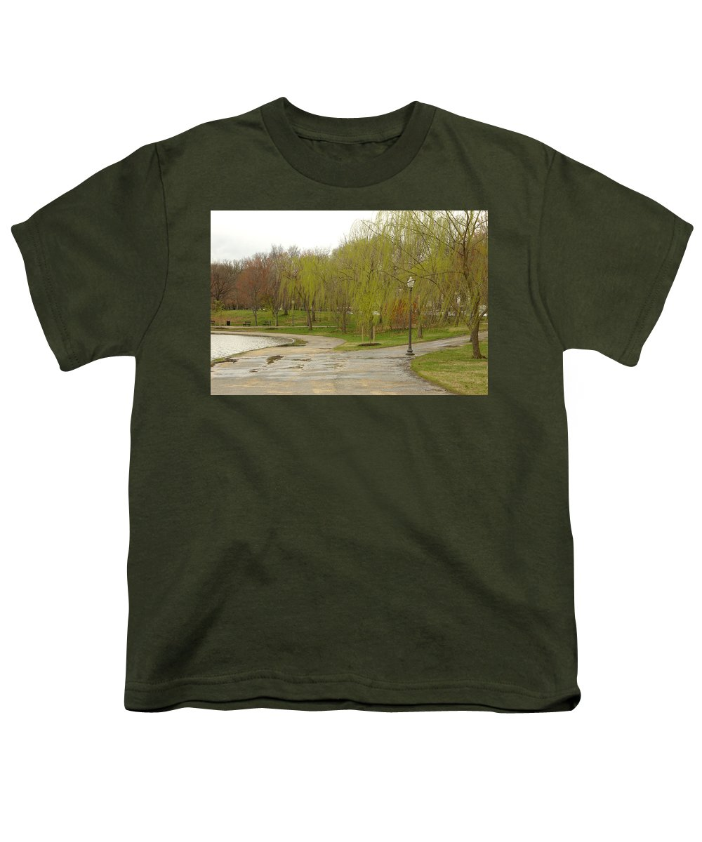 Landscape Park Washington Willow Tree Lake Youth T-Shirt featuring the photograph Dnrf0401 by Henry Butz