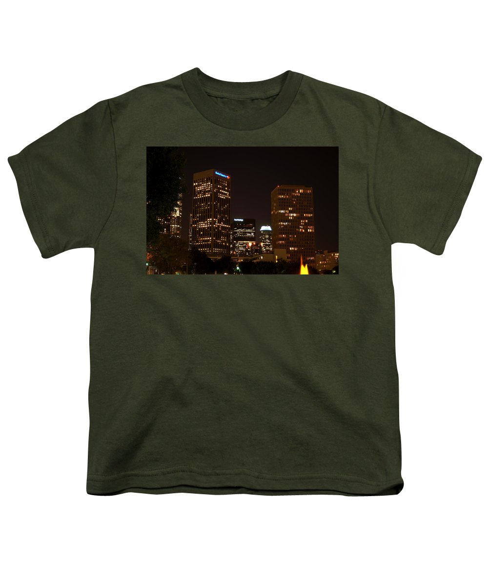 Clay Youth T-Shirt featuring the photograph Downtown L.a. In Hdr by Clayton Bruster
