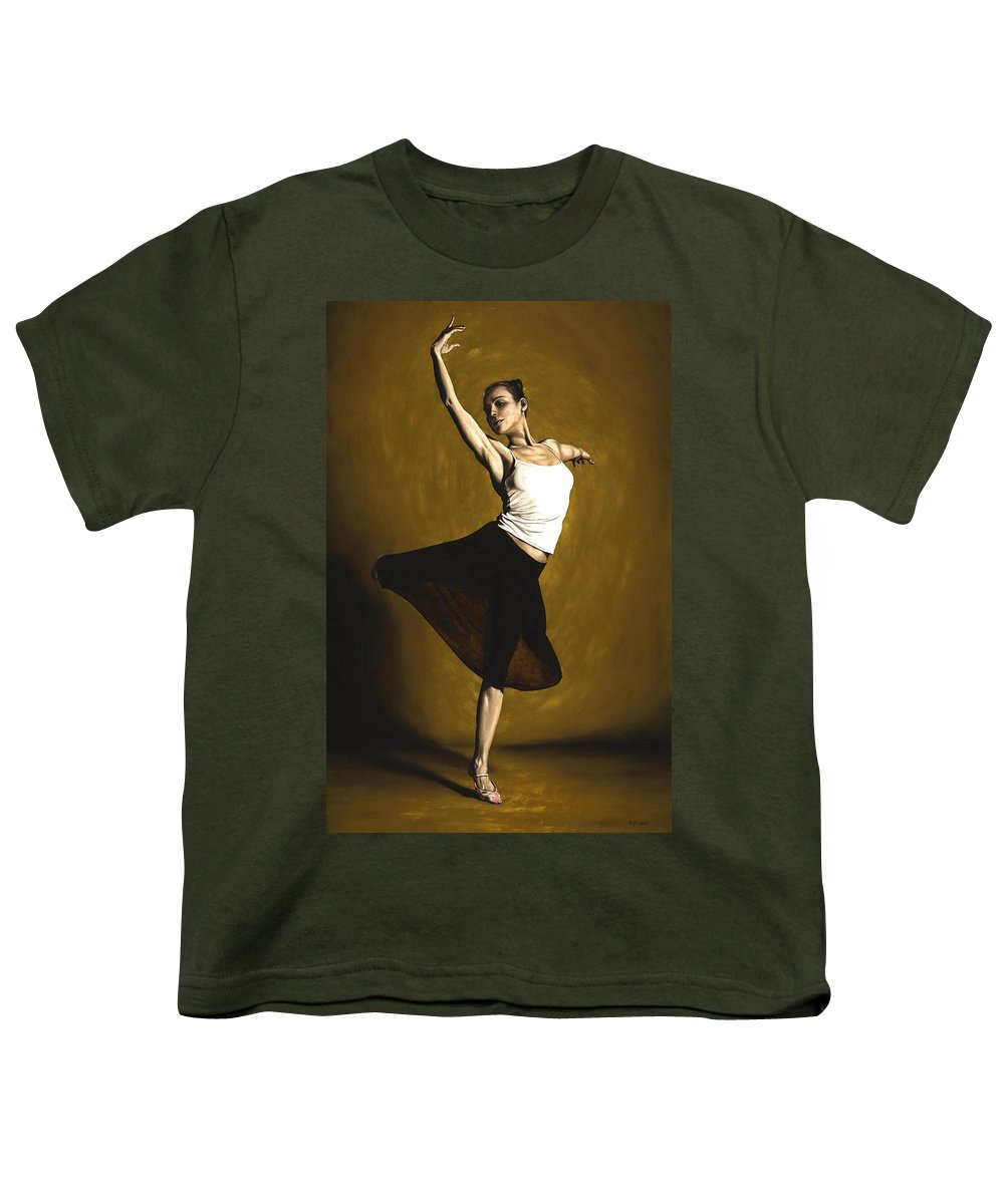 Elegant Youth T-Shirt featuring the painting Elegant Dancer by Richard Young