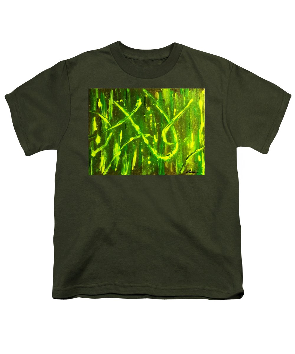Abstract Youth T-Shirt featuring the painting Envy by Todd Hoover