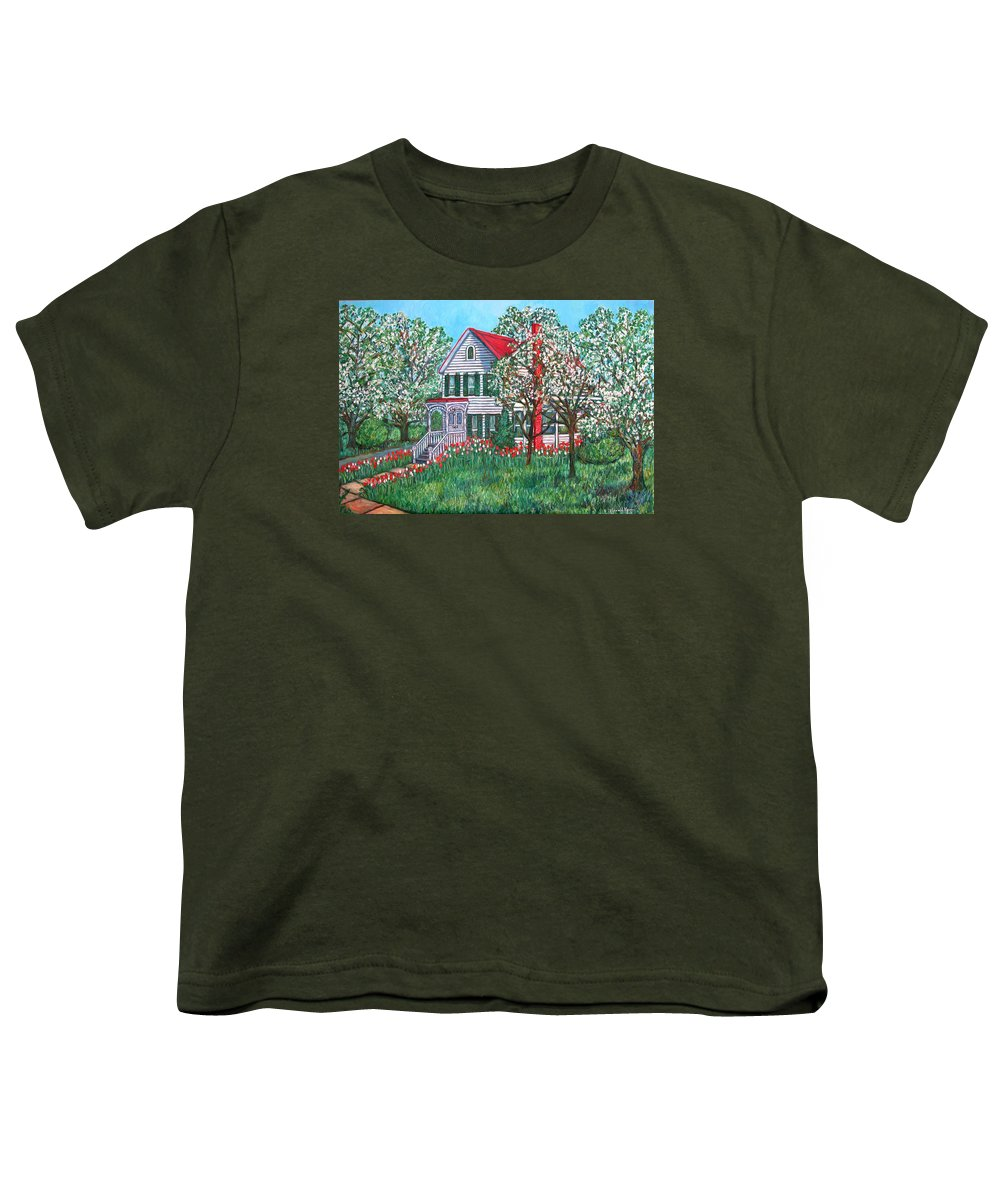 Home Youth T-Shirt featuring the painting Esther's Home by Kendall Kessler