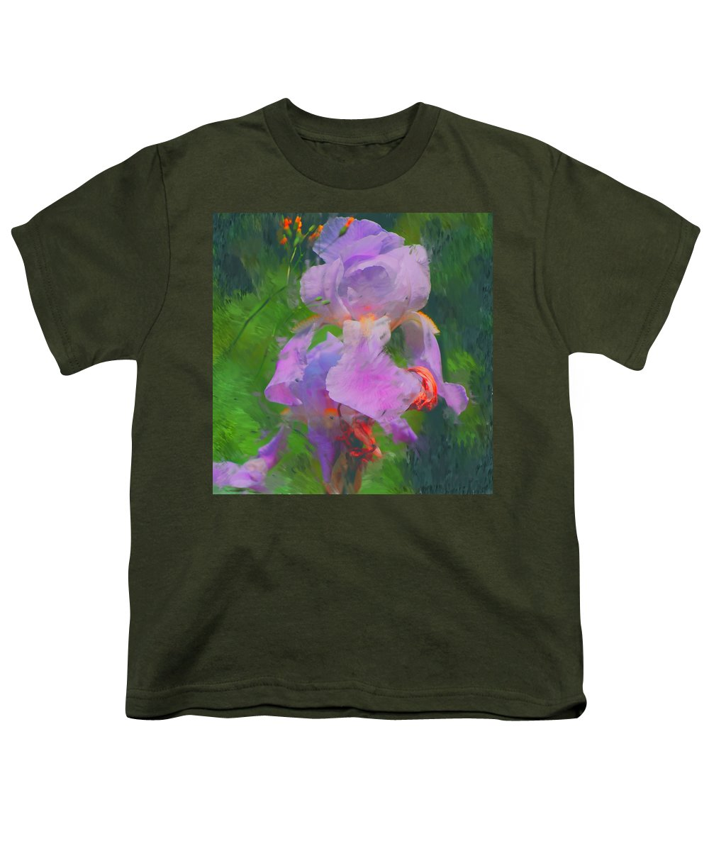 Iris Youth T-Shirt featuring the painting Fading Glory by David Lane