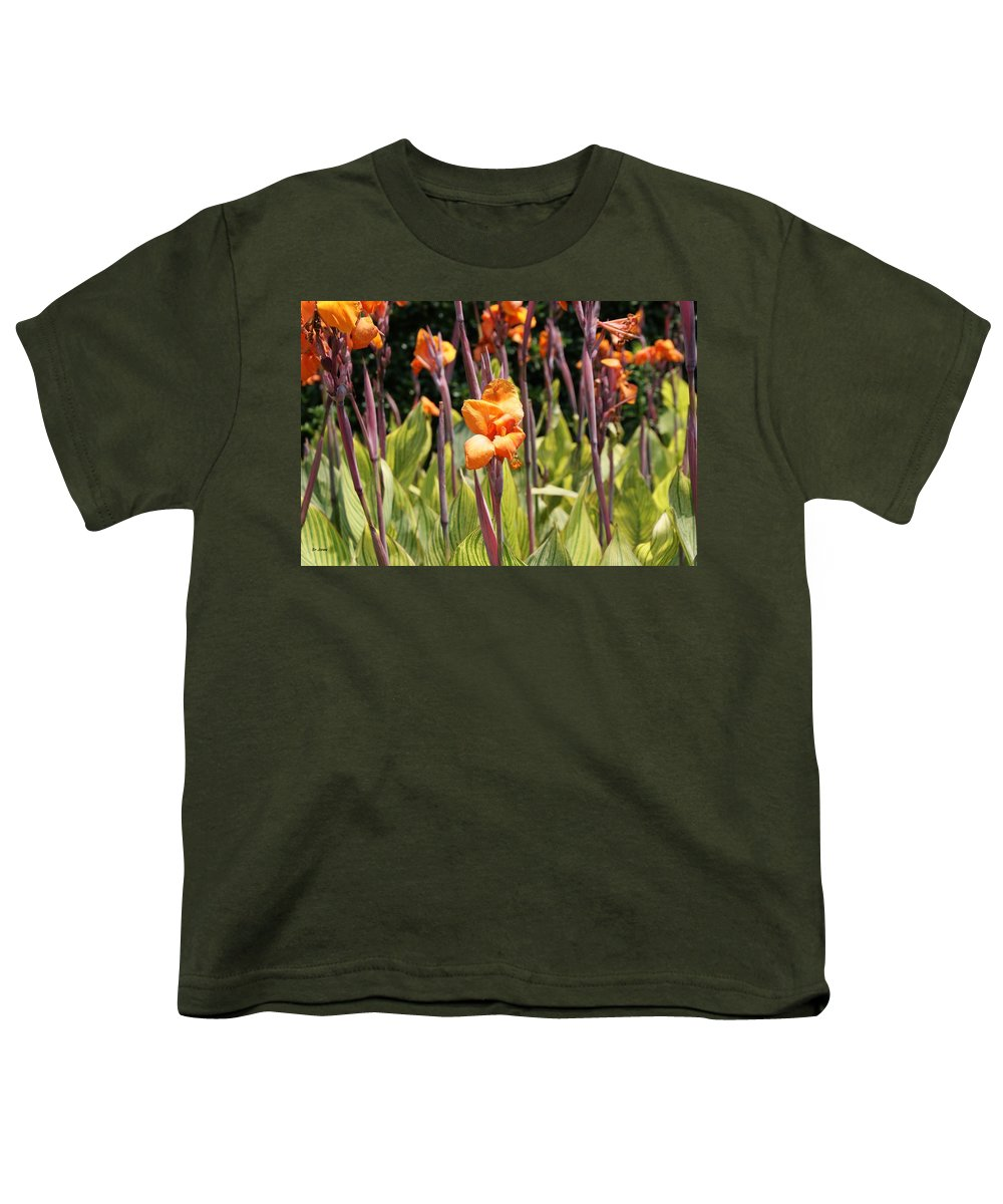 Floral Youth T-Shirt featuring the photograph Field For Iris by Shelley Jones
