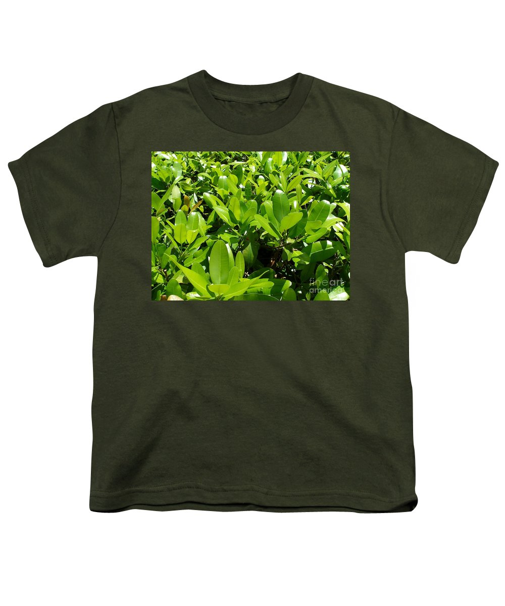 Shrub Youth T-Shirt featuring the photograph Field Of Green by Maria Bonnier-Perez