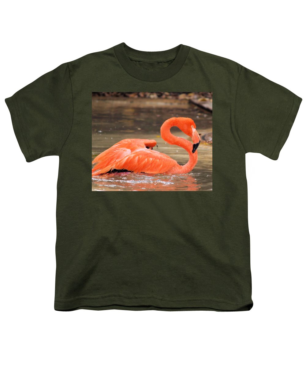Flamingo Youth T-Shirt featuring the photograph Flamingo by Gaby Swanson