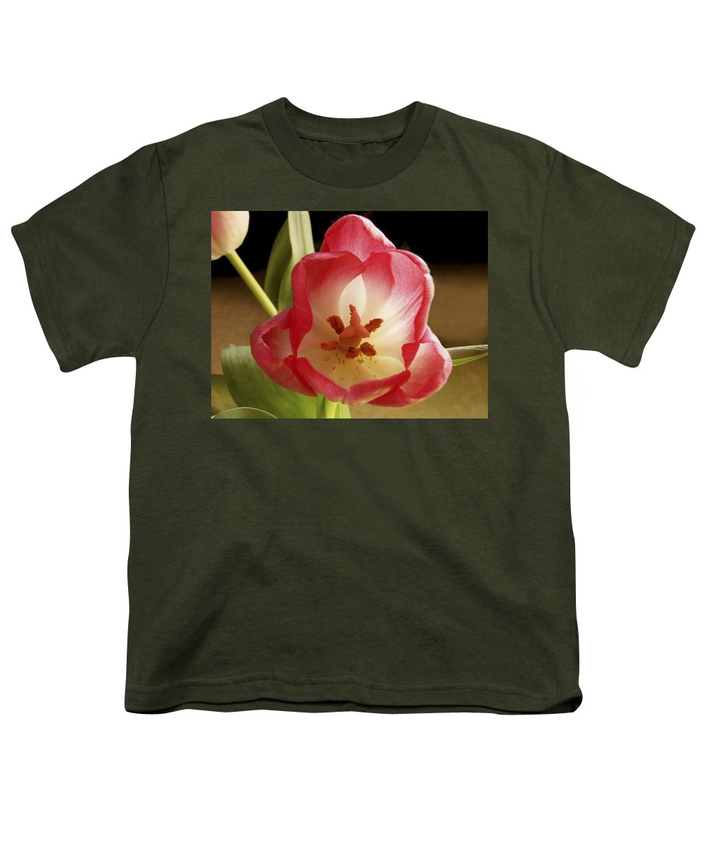 Flowers Youth T-Shirt featuring the photograph Flower Tulip by Nancy Griswold