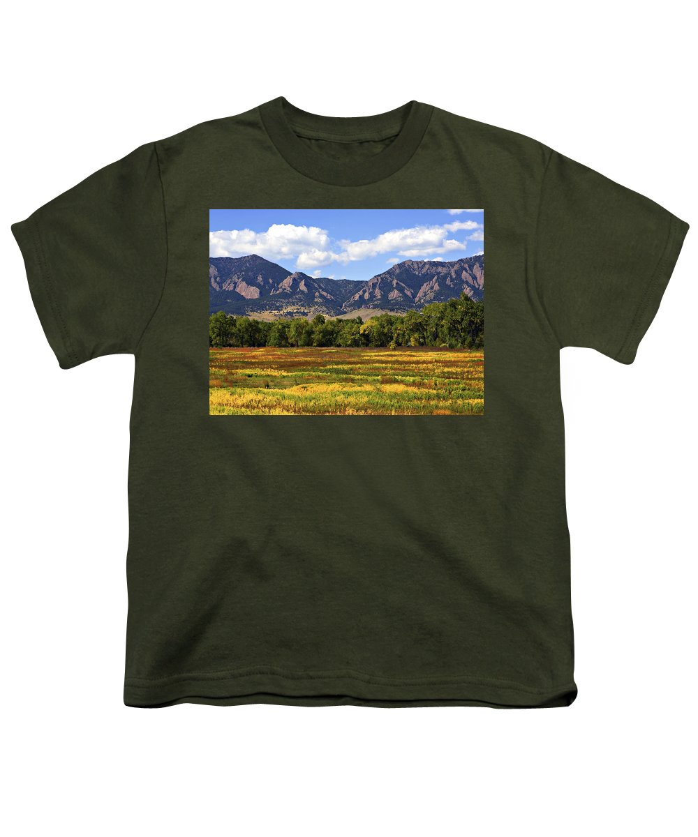 Fall Youth T-Shirt featuring the photograph Foothills Of Colorado by Marilyn Hunt
