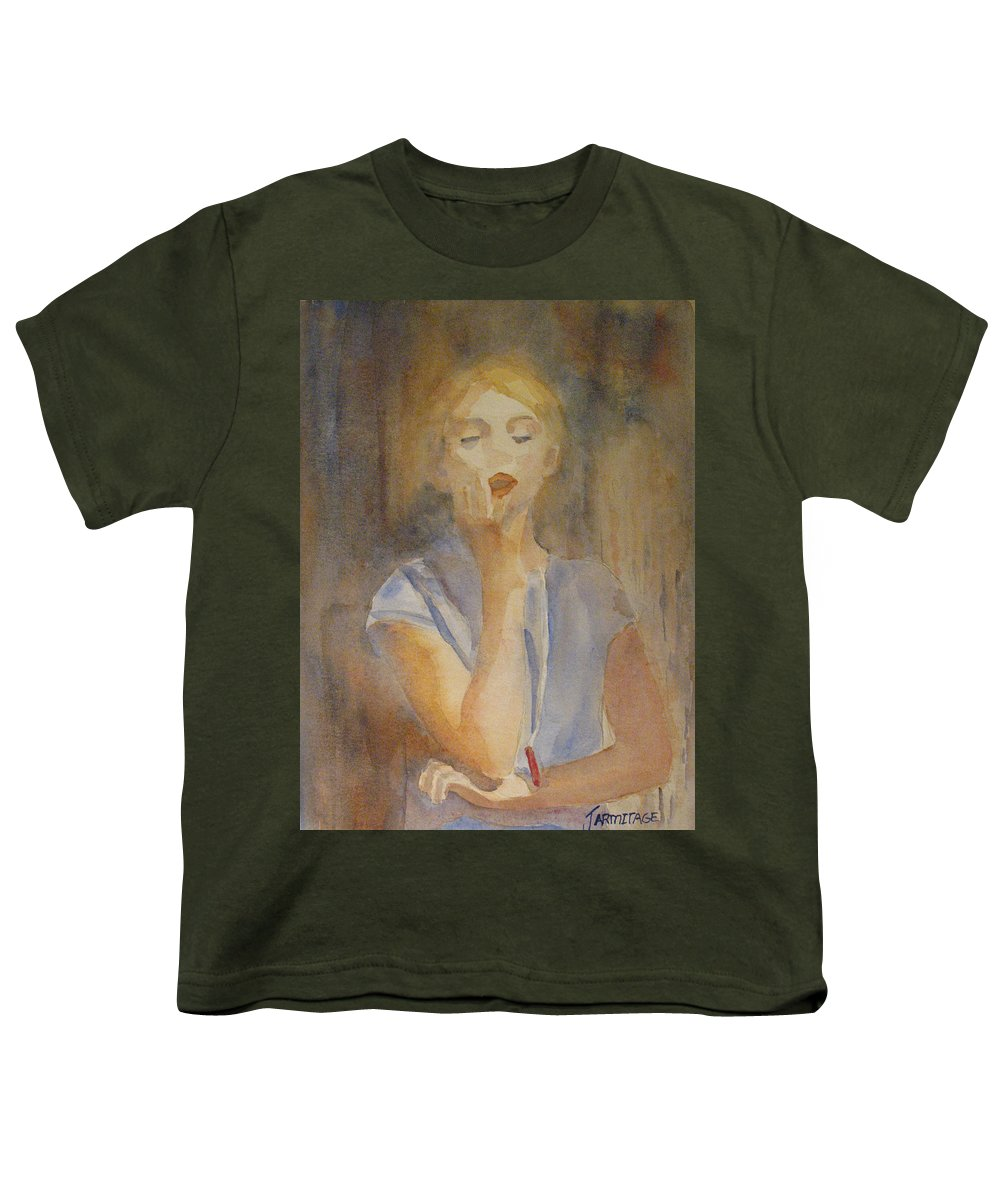 Woman Youth T-Shirt featuring the painting Forest Singer by Jenny Armitage