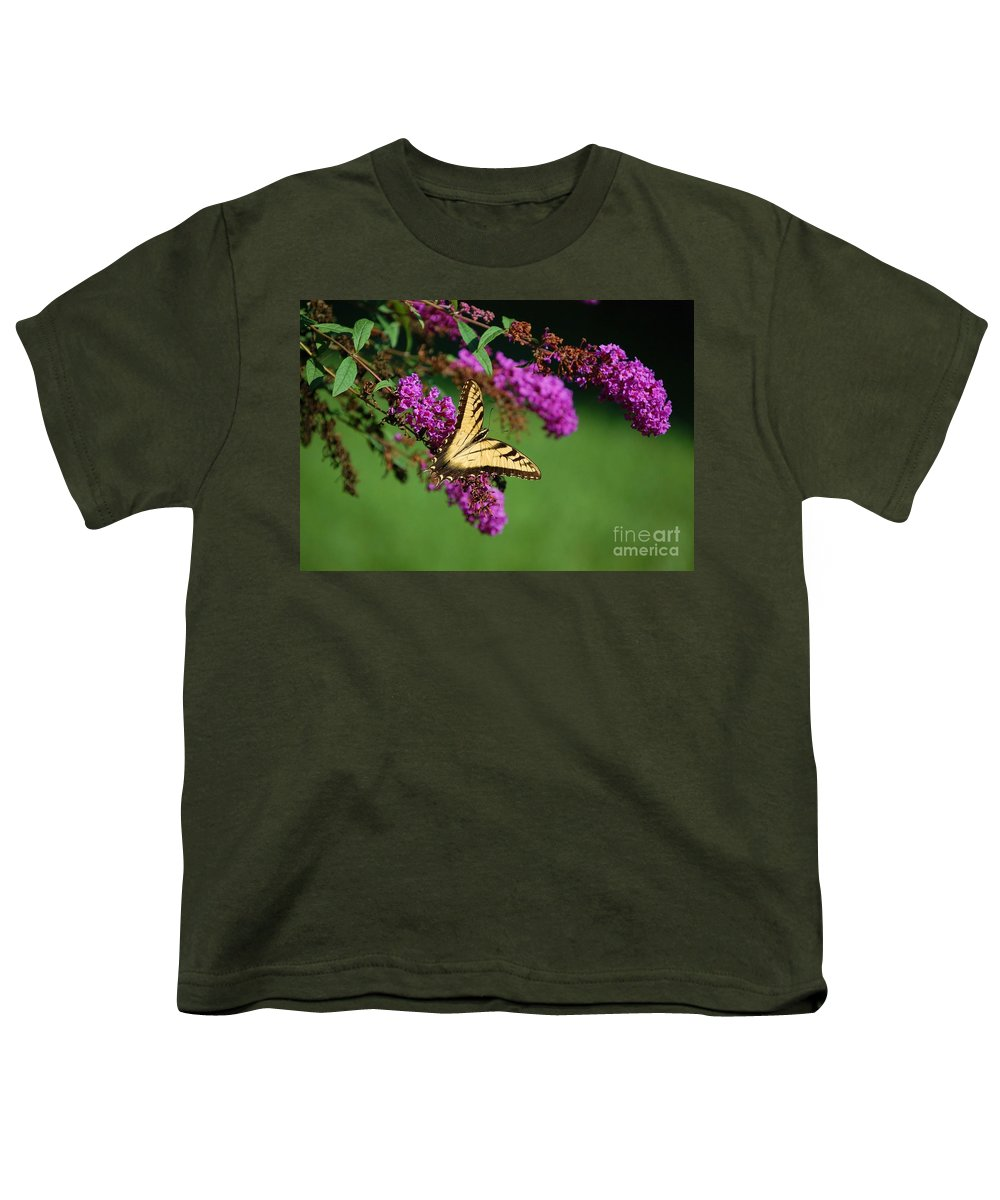 Butterfly Youth T-Shirt featuring the photograph Freedom by Debbi Granruth