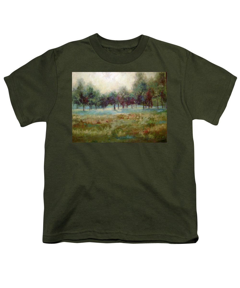 Country Scenes Youth T-Shirt featuring the painting From The Other Side by Ginger Concepcion