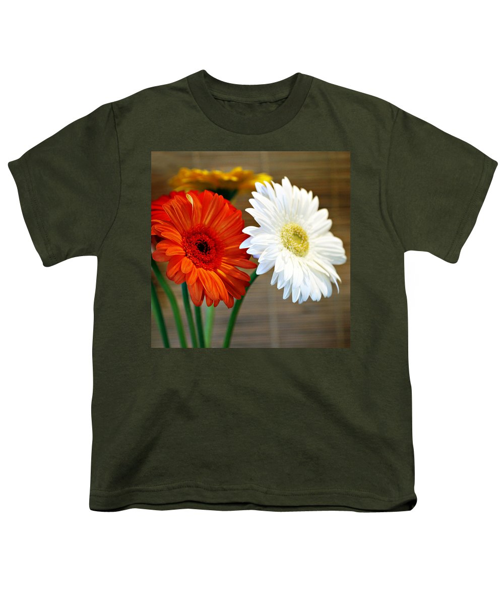 Flower Youth T-Shirt featuring the photograph Gerbers by Marilyn Hunt