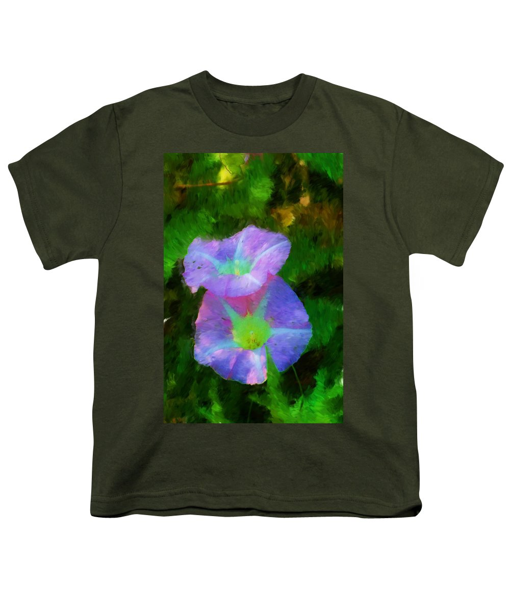 Floral Youth T-Shirt featuring the painting Gloria In The Shade by David Lane