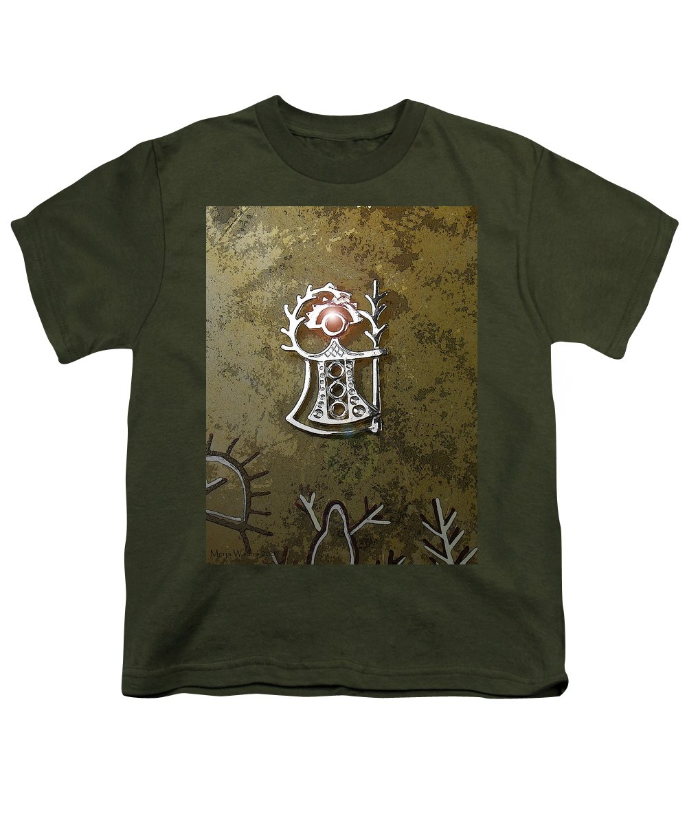 Goddess Youth T-Shirt featuring the digital art Goddess Of Fertility by Merja Waters