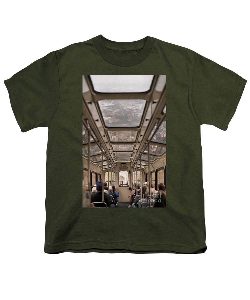 Cable Car Youth T-Shirt featuring the photograph Going Down by Richard Rizzo