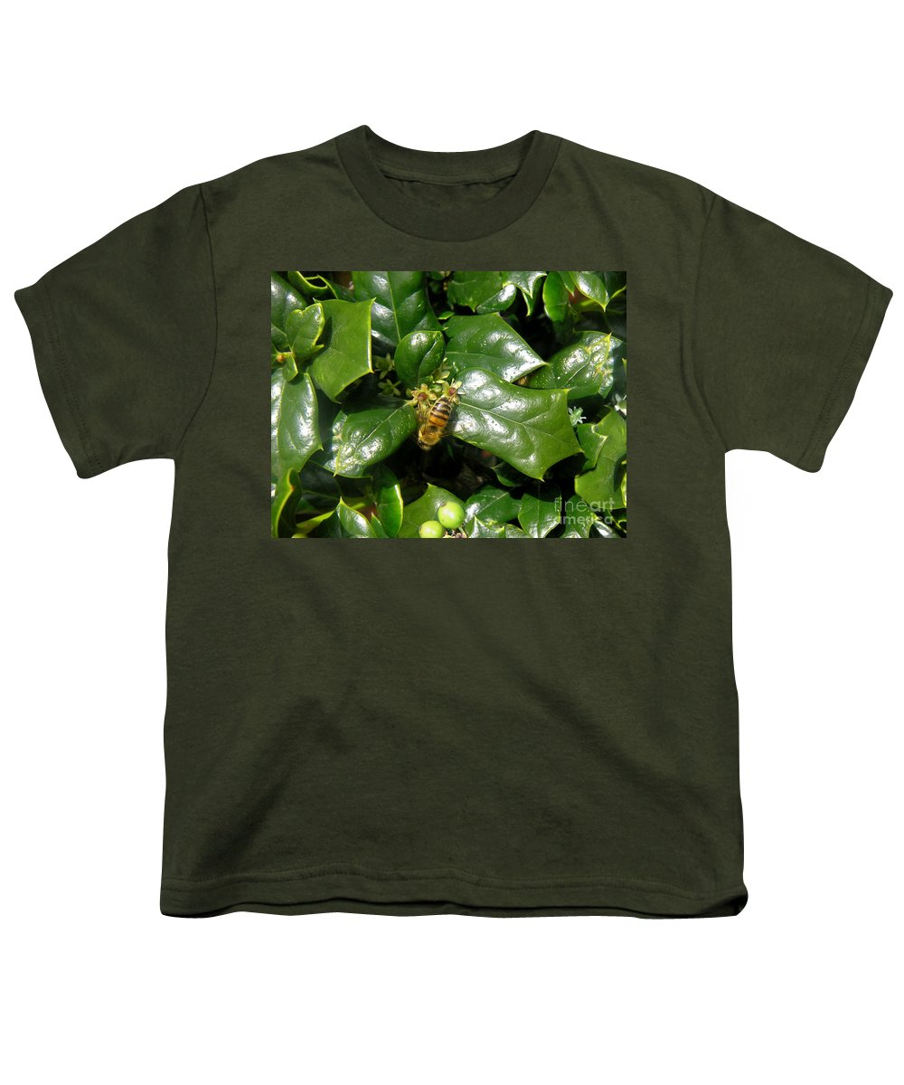 Nature Youth T-Shirt featuring the photograph Head Over Heels In The Holly by Lucyna A M Green