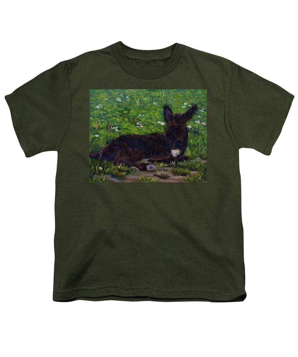 Donkey Youth T-Shirt featuring the painting Hercules by Sharon E Allen