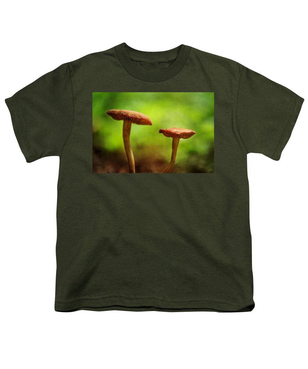 In The Forest Youth T-Shirt featuring the photograph In The Forest by Dale Kincaid