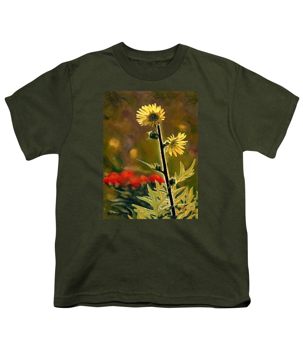 Prairie Flowers Youth T-Shirt featuring the painting July Afternoon-compass Plant by Bruce Morrison
