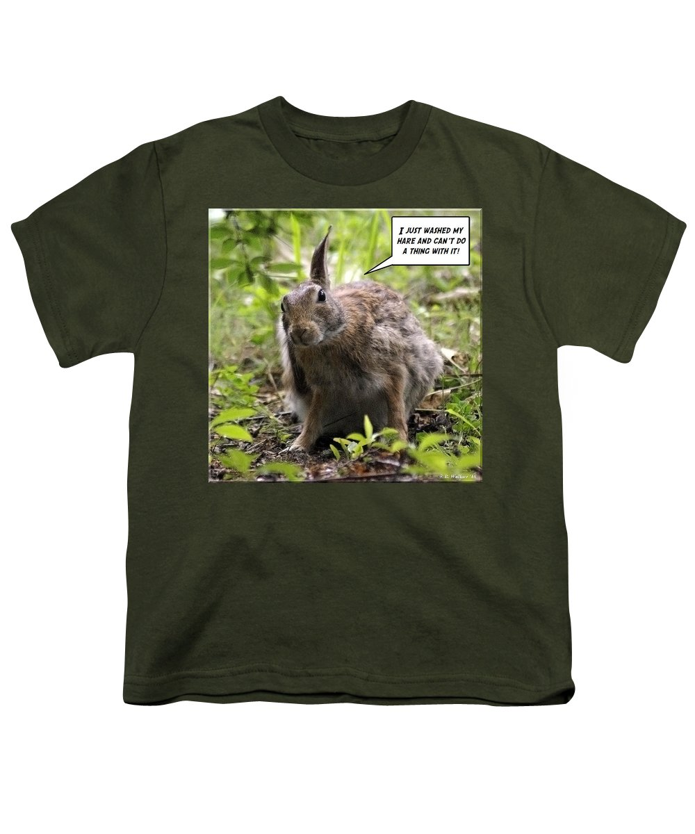 2d Youth T-Shirt featuring the photograph Just Washed My Hare by Brian Wallace