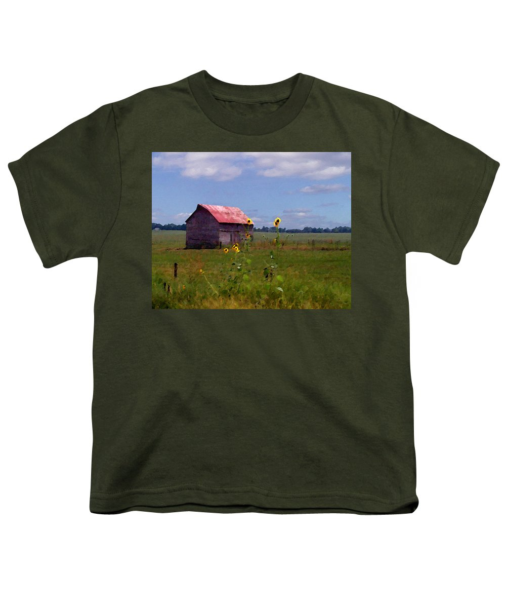 Landscape Youth T-Shirt featuring the photograph Kansas Landscape by Steve Karol
