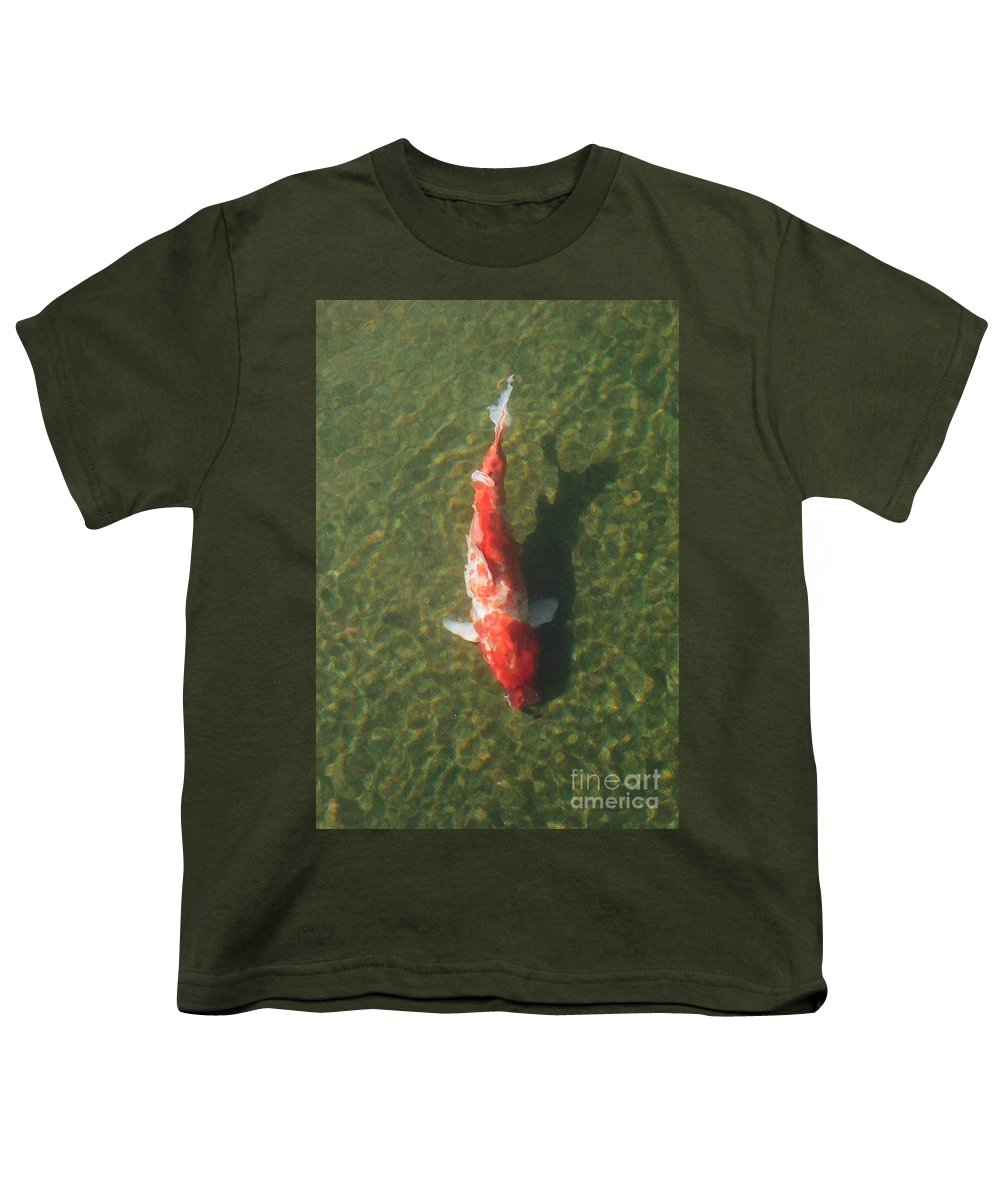 Koi Youth T-Shirt featuring the photograph Koi by Dean Triolo