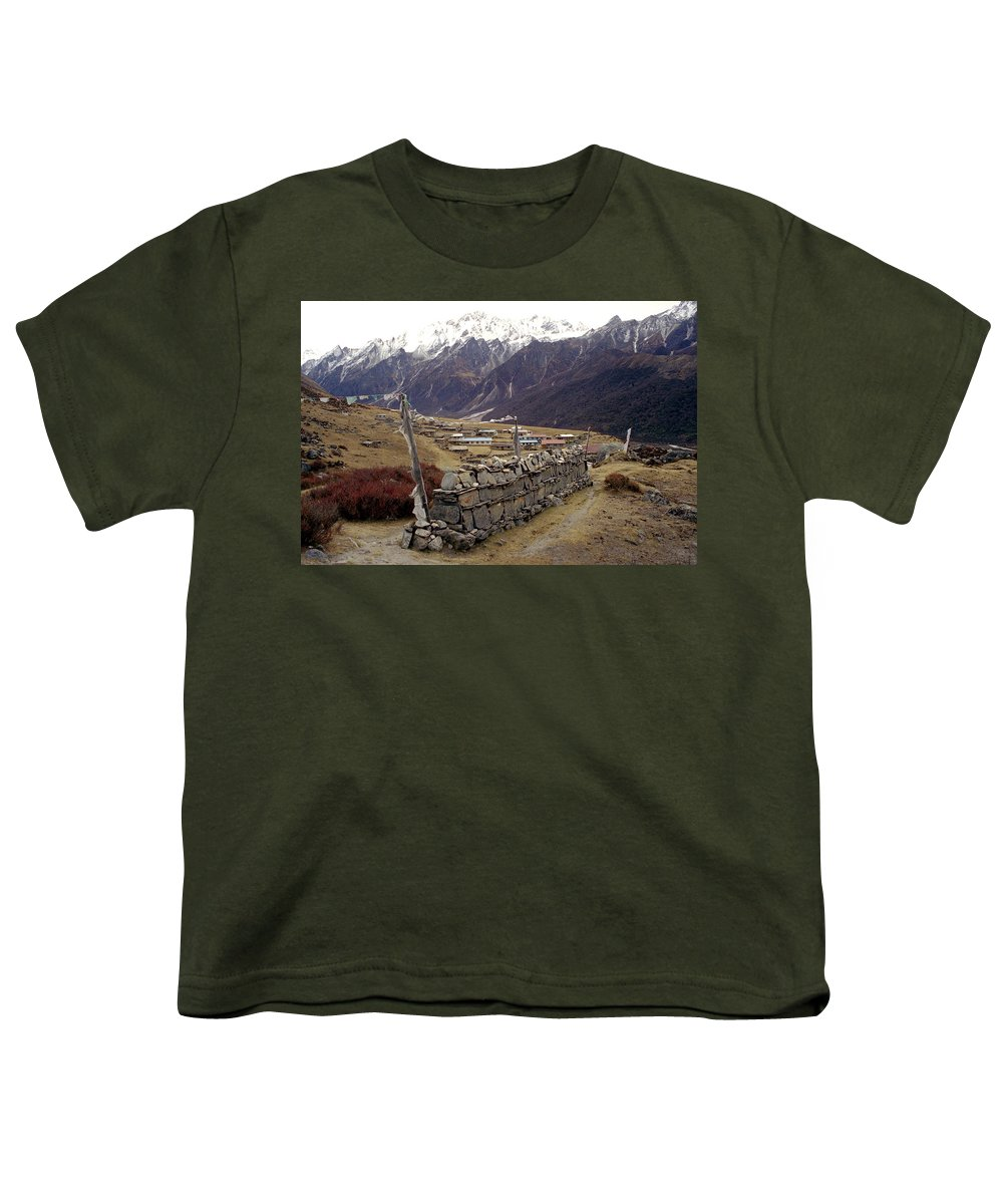 Langtang Youth T-Shirt featuring the photograph Kyanjin Gompa by Patrick Klauss