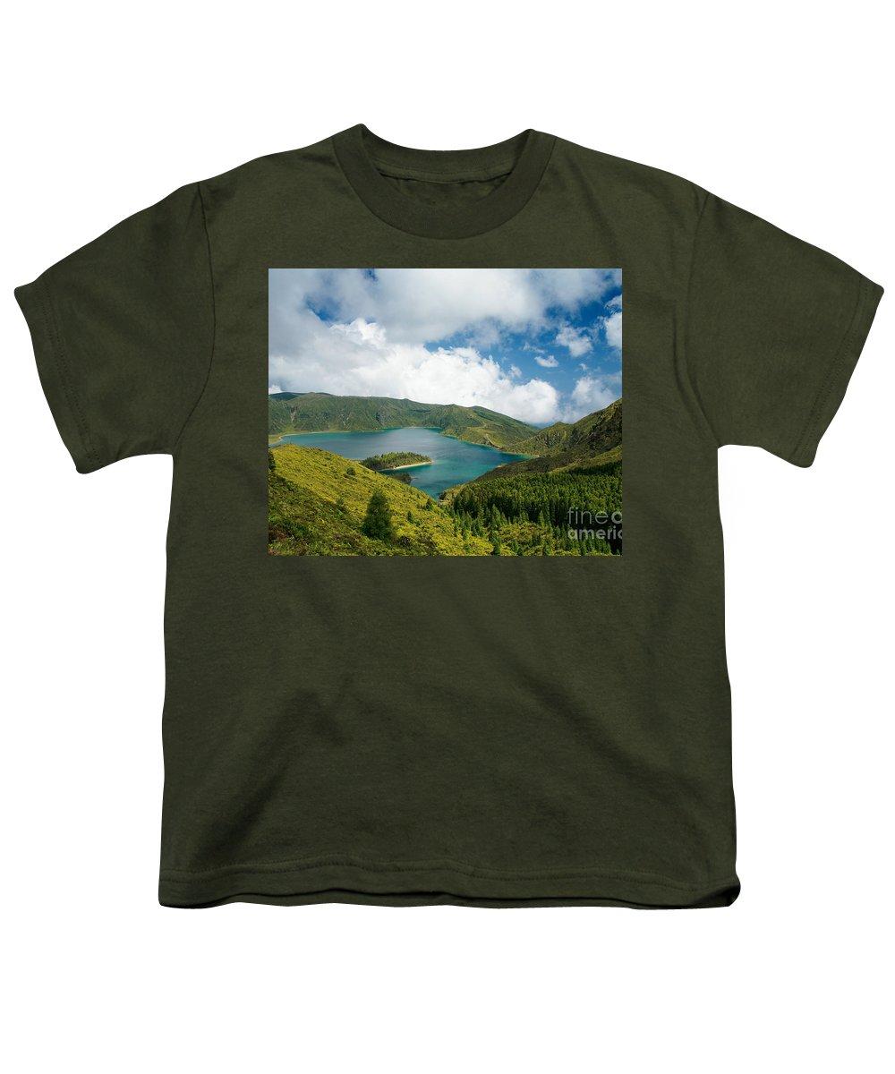 Lagoa Do Fogo Youth T-Shirt featuring the photograph Lagoa Do Fogo by Gaspar Avila