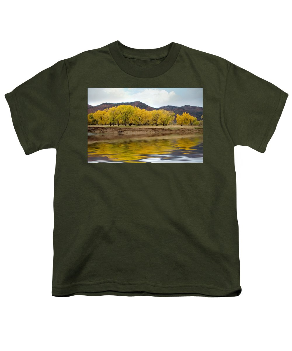 River Youth T-Shirt featuring the photograph Las Animas Fall by Jerry McElroy
