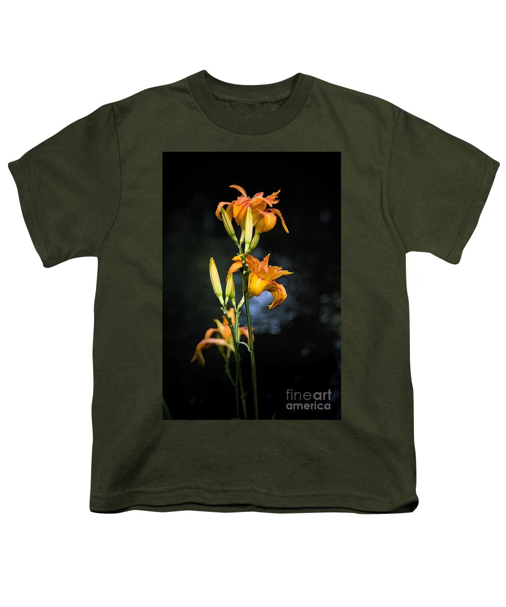 Lily Monet Garden Flora Youth T-Shirt featuring the photograph Lily In Monets Garden by Avalon Fine Art Photography