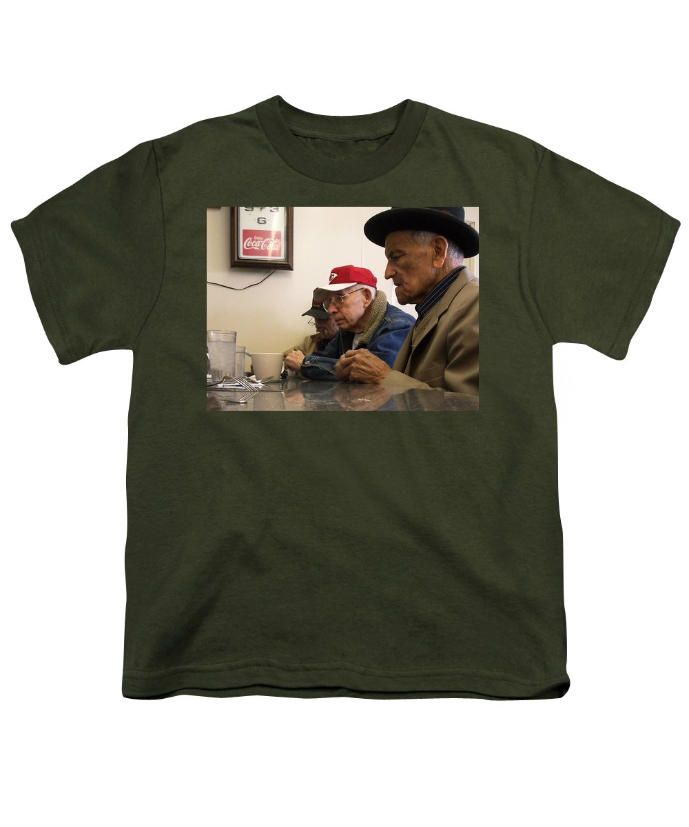 Diner Youth T-Shirt featuring the photograph Lunch Counter Boys by Tim Nyberg