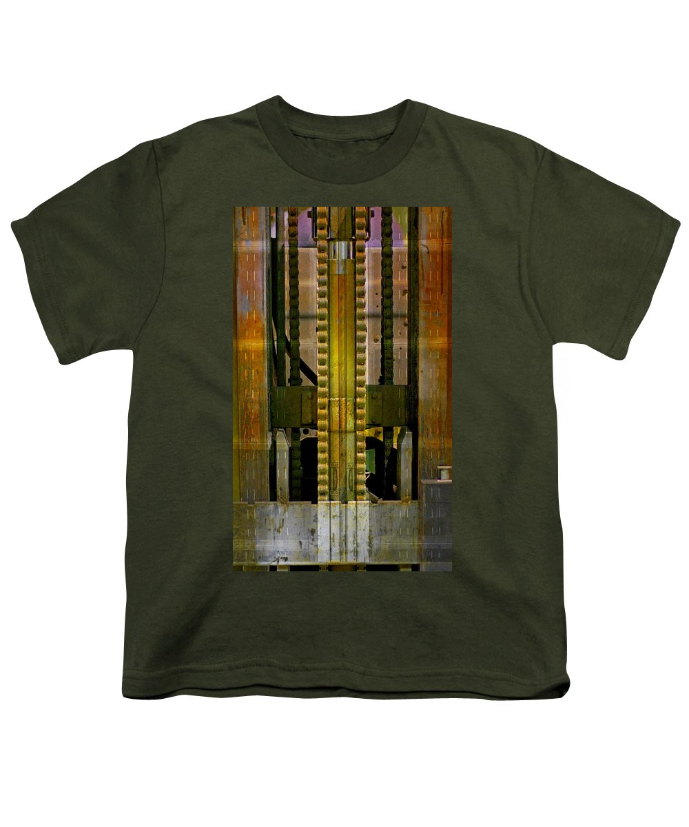 Texture Youth T-Shirt featuring the photograph Machina by Skip Hunt