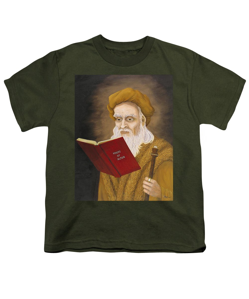 Magic Youth T-Shirt featuring the painting Magic Of Alton by Roz Eve