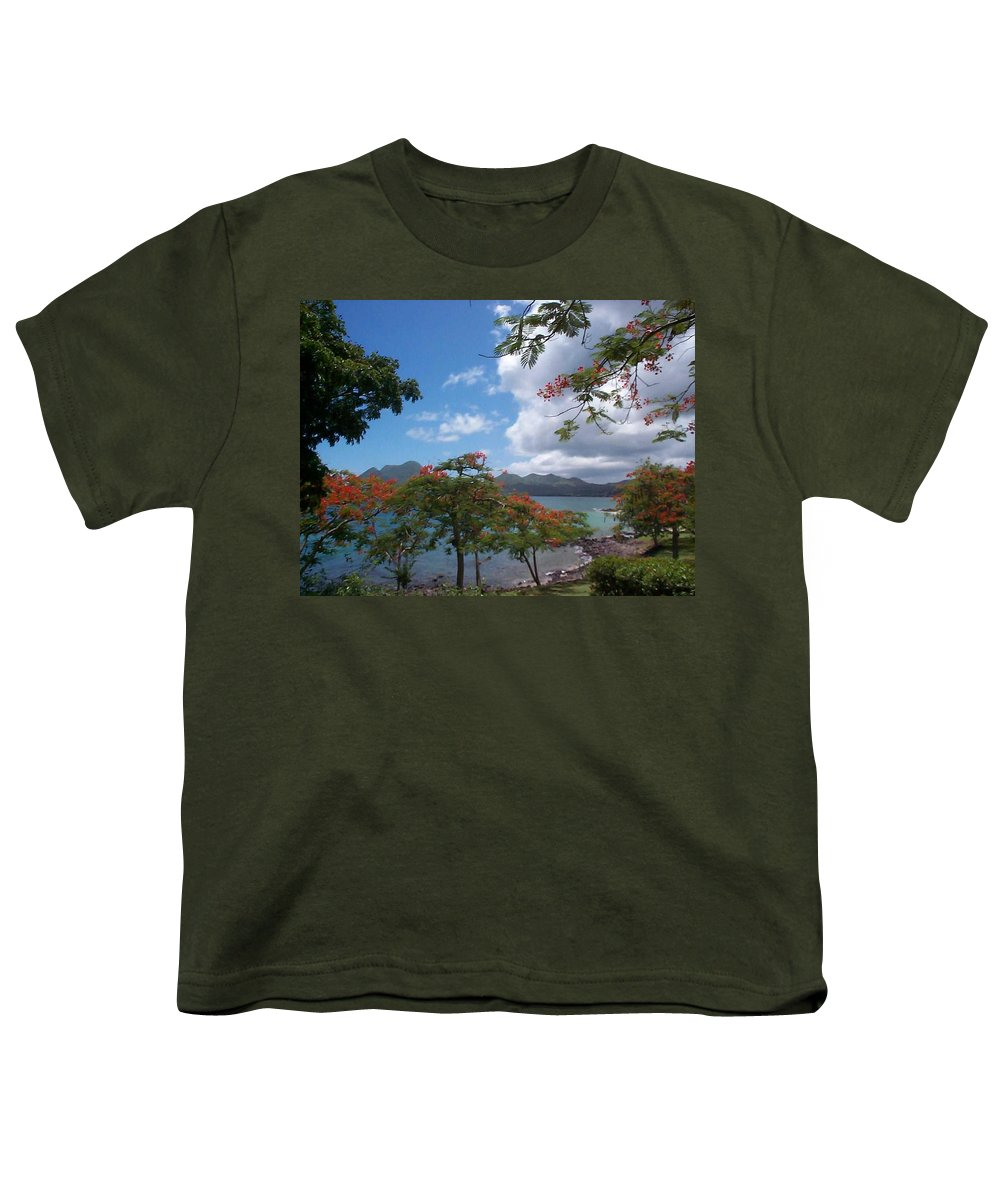 Donation Youth T-Shirt featuring the photograph Martinique by Mary-Lee Sanders