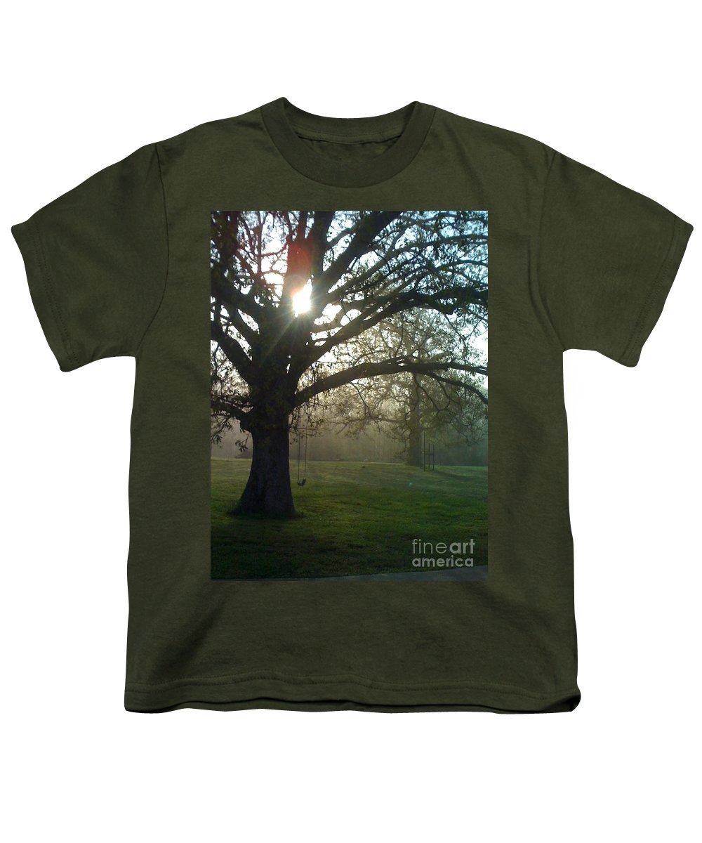 Mist Youth T-Shirt featuring the photograph Misty Morning by Nadine Rippelmeyer