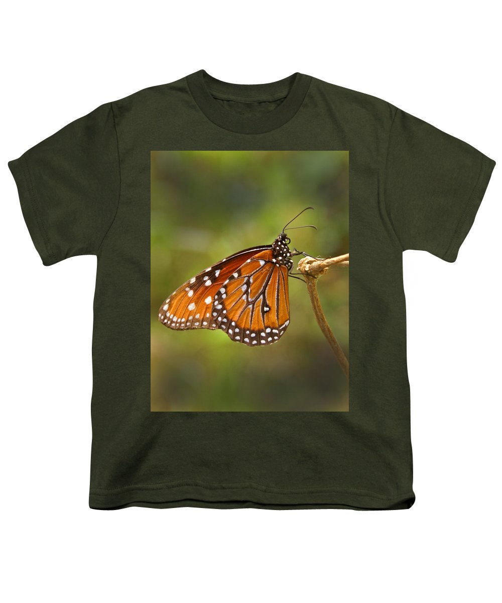 Monarch Youth T-Shirt featuring the photograph Monarch Butterfly by Heather Coen