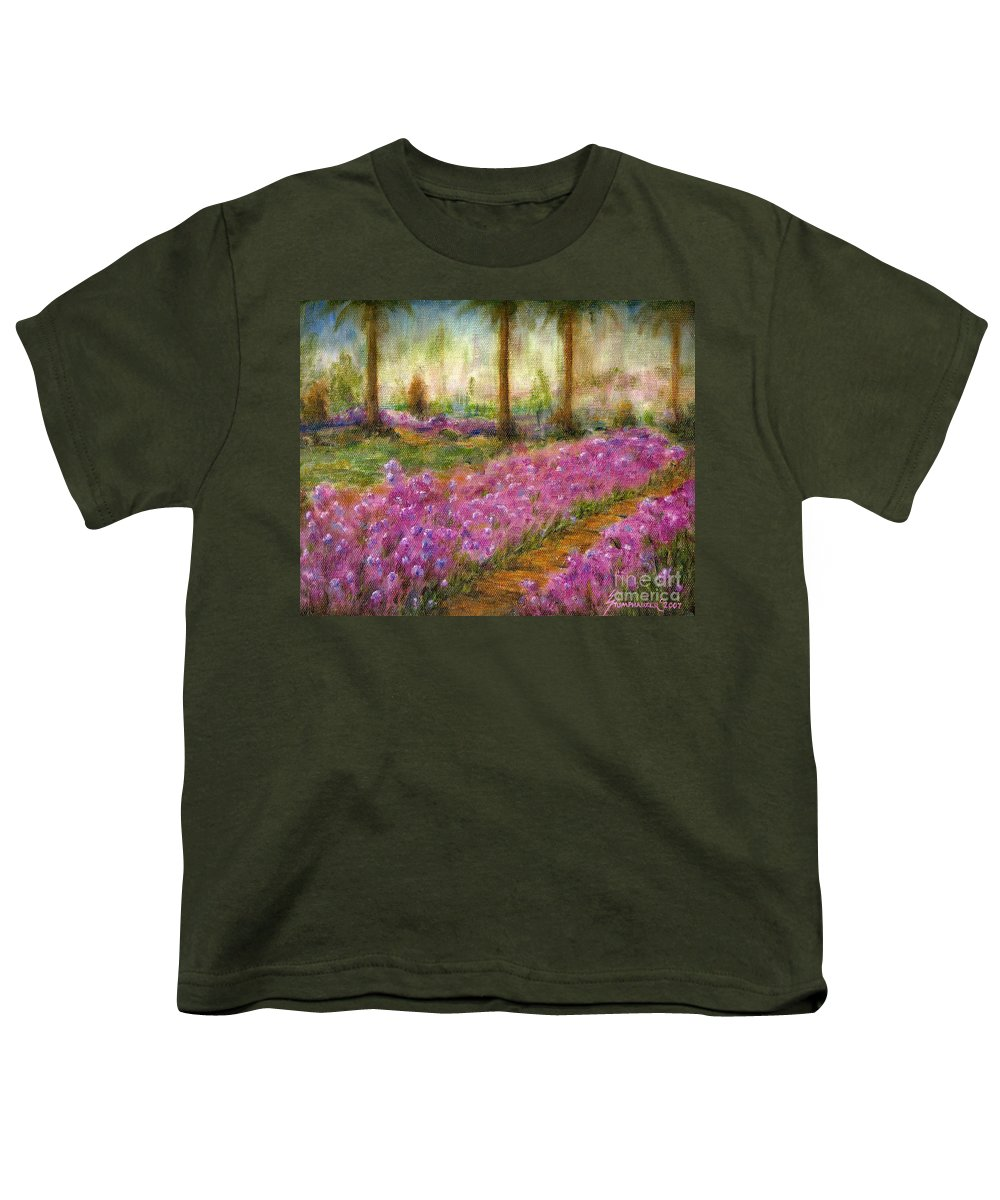 Monet Youth T-Shirt featuring the painting Monet's Garden In Cannes by Jerome Stumphauzer