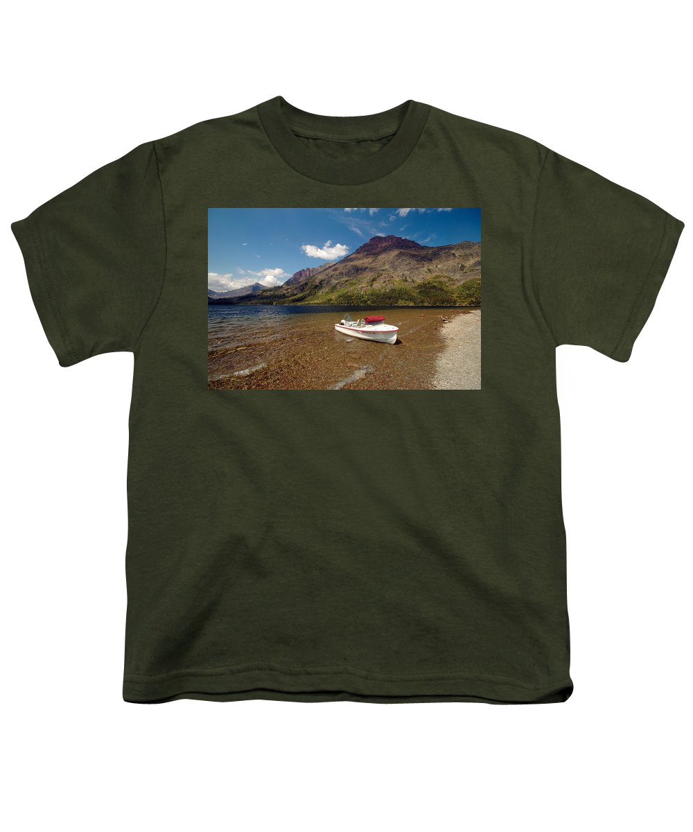Moutains Youth T-Shirt featuring the photograph Moutain Lake by Sebastian Musial