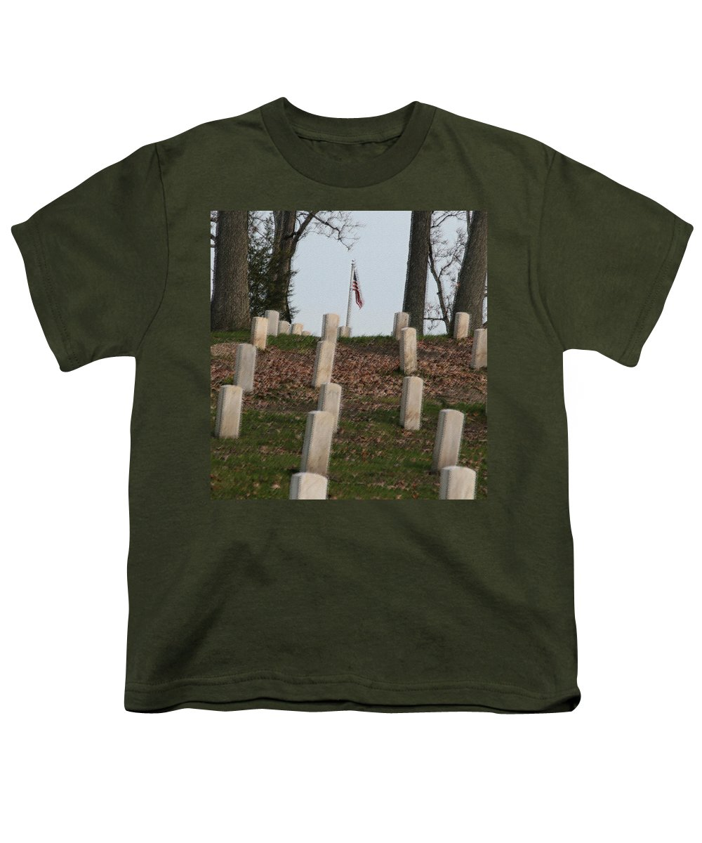 America Youth T-Shirt featuring the photograph Never Forget The Cost by Robert Pearson