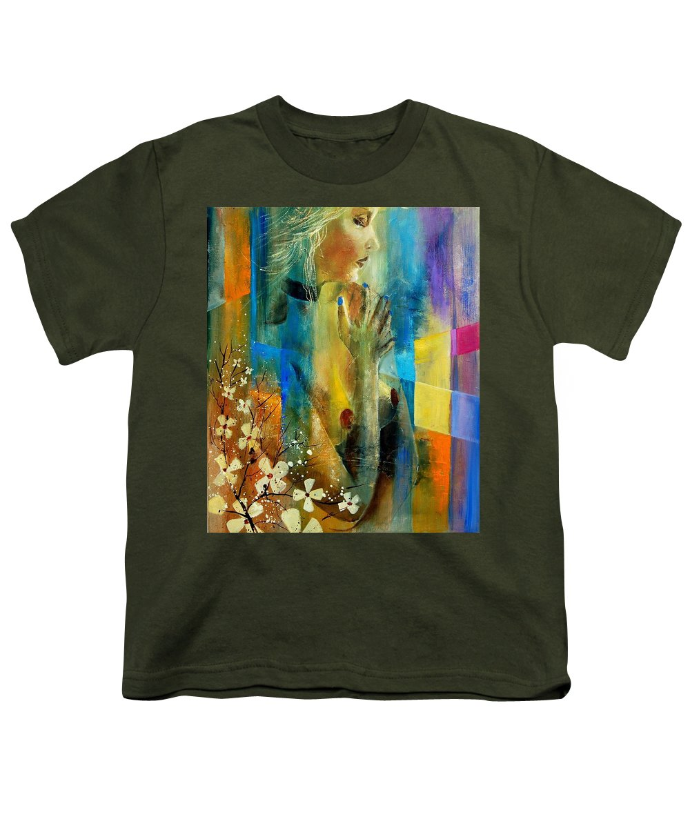 Nude Youth T-Shirt featuring the painting Nude 5609082 by Pol Ledent