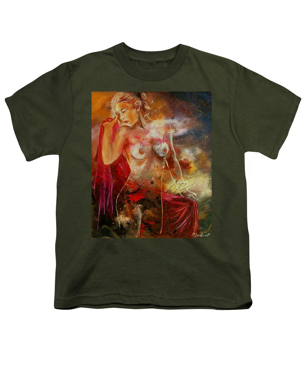 Nude Youth T-Shirt featuring the painting Nude 561008 by Pol Ledent