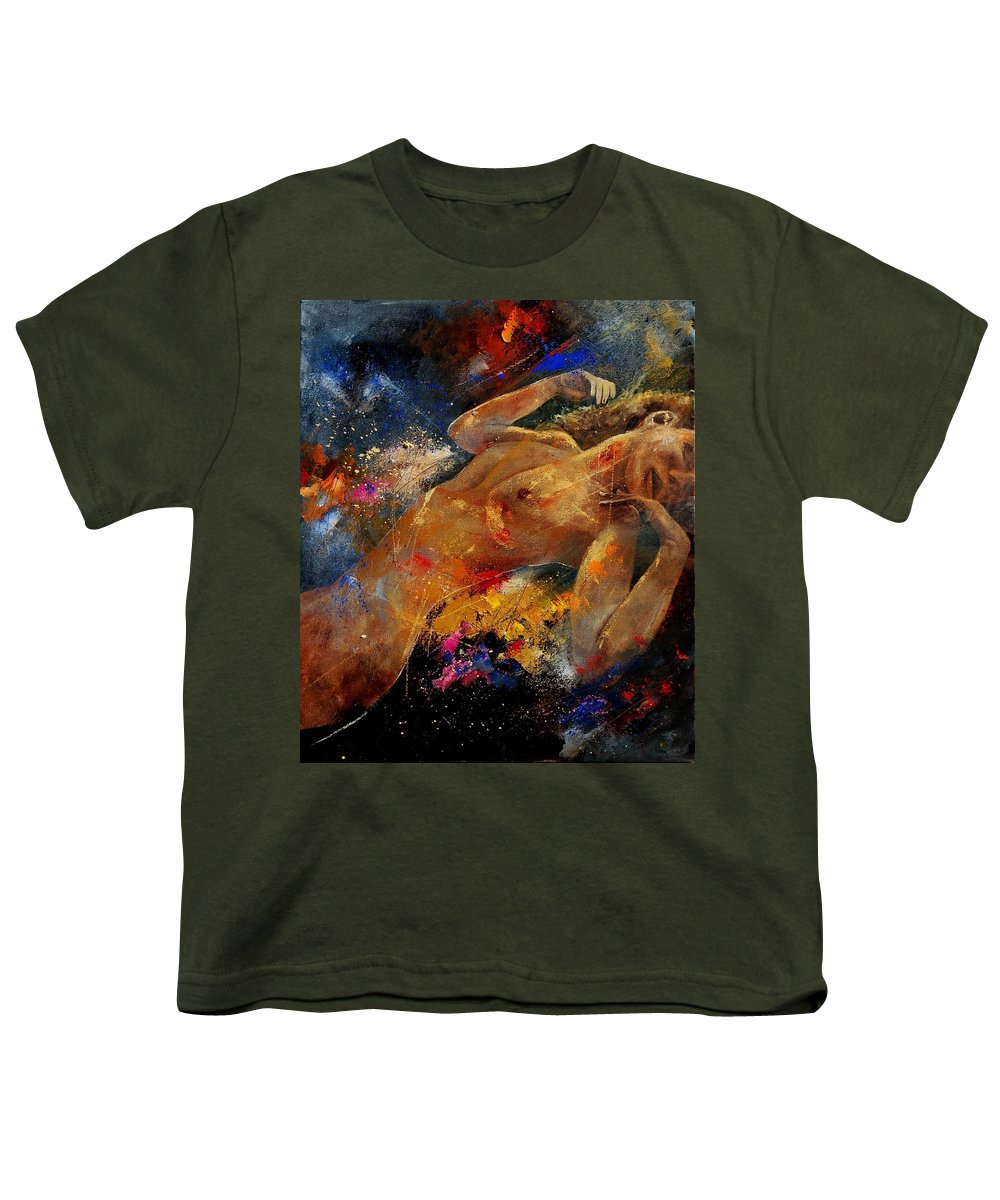 Nude Youth T-Shirt featuring the painting Nude 67 0407 by Pol Ledent