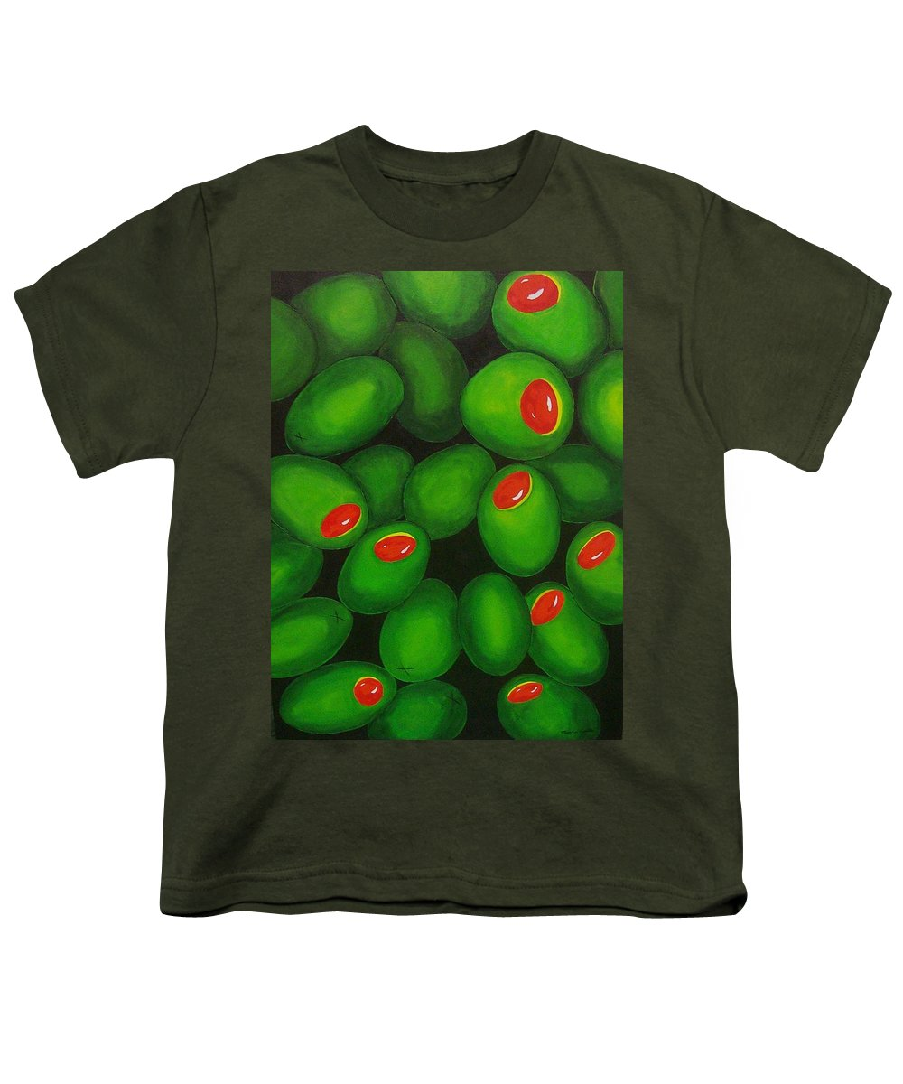 Olive Youth T-Shirt featuring the painting Olives by Micah Guenther