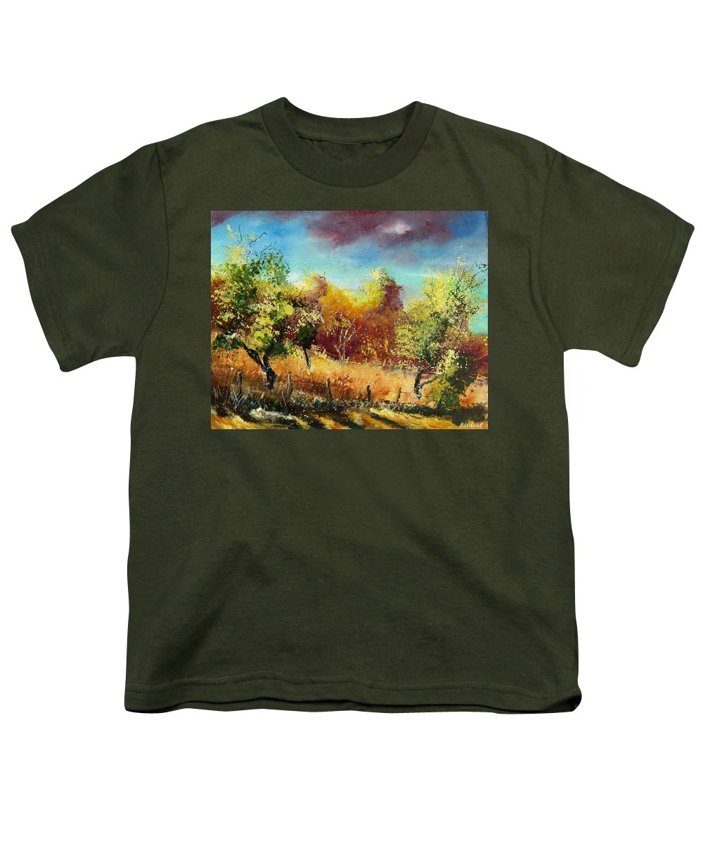 Flowers Youth T-Shirt featuring the painting Orchard by Pol Ledent