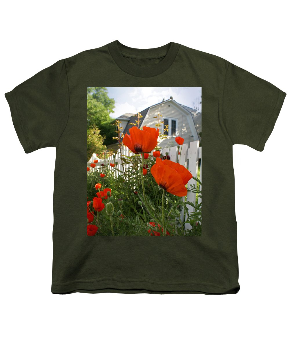 Poppies Youth T-Shirt featuring the photograph Oriental Poppies by Heather Coen