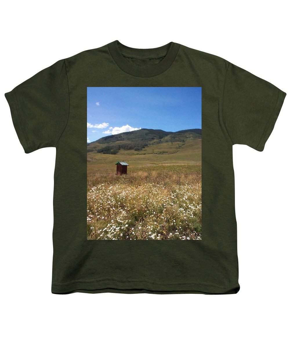 Charity Youth T-Shirt featuring the photograph Out House by Mary-Lee Sanders